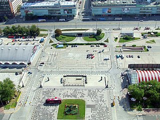 Parade Square Square in Warsaw