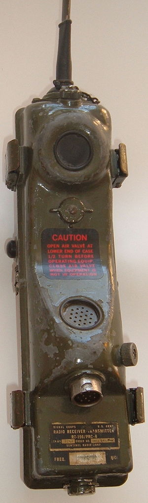 AN/PRC-6 U.S. military handi-talkie radio from...