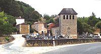 PUY L'ÉVÊQUE, Cazes, Le Hameau et son église romane.JPG