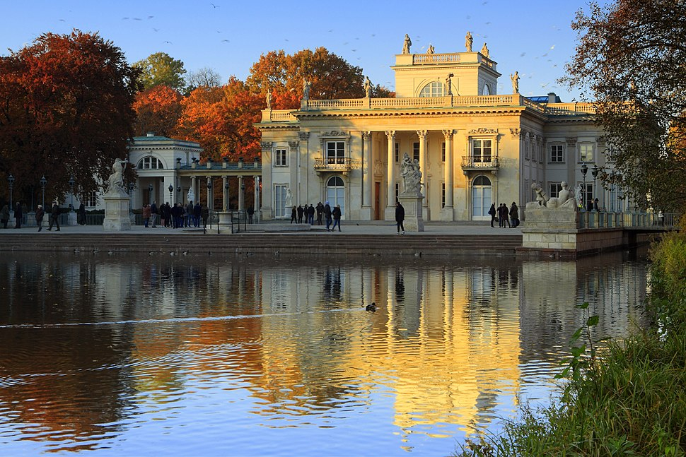 Pałac Na Wyspie w Warszawie, widok na elewację południową