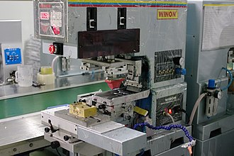 Light industry - A manufacturing device typical of light industry (a print machine).