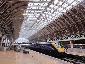 London Paddington station - The Victorian Train Shed at Paddington
