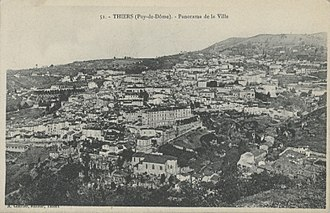 Thiers, Puy-de-Dôme - View of the city center of Thiers 60 years ago.