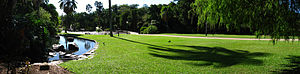 QUT Business School - Panorama of the Brisbane City Botanic Gardens
