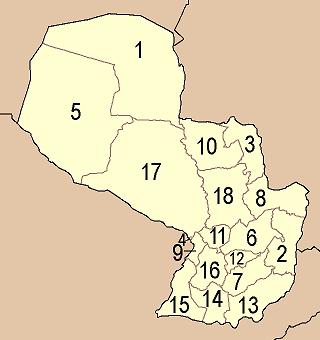 Paraguay departements