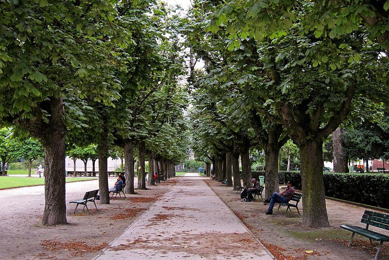 Parques tranquilos em Paris