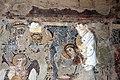 Parete palinsesto con madonna in trono con angelo (500-550 ca.), annunciazione (590 ca.), basilio e giovanni crisost. (post 649) e gregorio nazianz. e basilio (705-707) 06.jpg