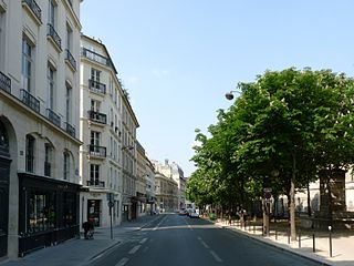 Rue Bonaparte street in Paris, France