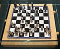 Pasquale ninì santoro, scacchi, 1969, in marmi e argento (coll. dell'artista) 01.jpg