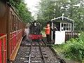Passing trains at Quarry Siding Halt- Talyllyn Railway (geograph 2511170).jpg