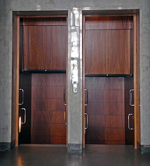 A paternoster lift in parliament of Finland