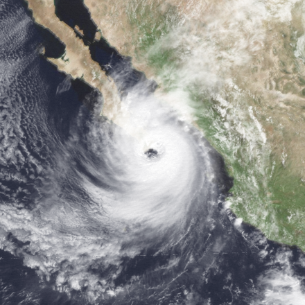 Hurricane Paul was the second-deadliest Pacific hurricane Paul 1982-09-28 1845Z.png
