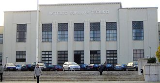 Instituto Superior Técnico - Central pavilion of IST on the campus of Alameda in Lisbon