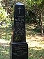Perczel-Fischler grave, Calvary Hill cemetery, 2016 Bonyhad.jpg