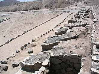 Norte Chico civilization - Base of Norte Chico pyramids