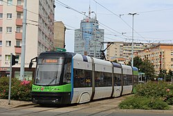 Pesa Swing on tram line 2 in Szczecin, 2017.jpg