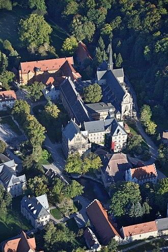 Freyburg, Germany - Pforta from air