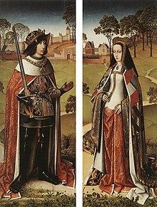 Philipp mit seiner Ehefrau Johanna (um 1500) (Quelle: Wikimedia)