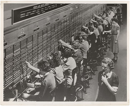 Photograph of Women Working at a Bell System Telephone Switchboard (3660047829)