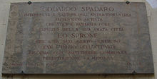 Targa a Odoardo Spadaro, Piazza del Giglio, Firenze