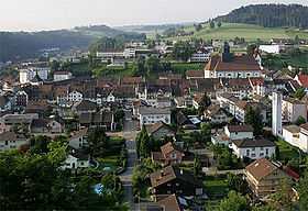 Vue du village de Willisau.