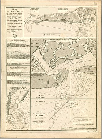 Amelia Island - Nautical chart of Amelia Island, 1799