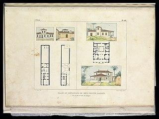 Plans et elévations de deux petites maisons : L'une de ville et l'autre de campagne