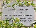 Plaque Adolphe Alphand, villa de Beauséjour, Paris 16e.jpg