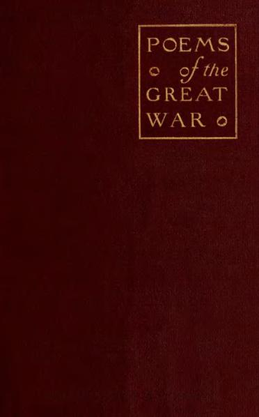 File:Poems of the Great War - Cunliffe.djvu