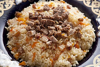 National dish - Pilaf (O'sh), a national dish in the cuisines of Central Asia