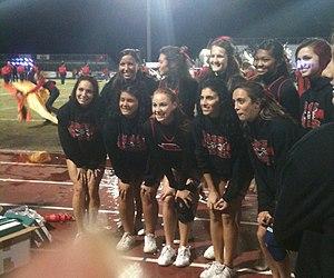 Port Charlotte High School - PCHS cheerleaders at a football game