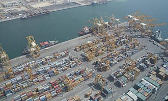 Port of Jebel Ali - Image: Port Jebel Ali on 1 May 2007 Pict 3