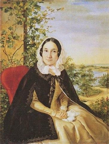 Екатерина Тимофеевна на портрете Р.К.Шведе (1844)