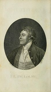 Jean-Louis de Lolme Genevan and English political theorist and writer on constitutional matters