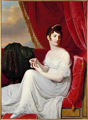 Empire silhouette - Portrait of Thérésa Tallien by Jean-Bernard Duvivier (1806) with Empire waist Brooklyn Museum