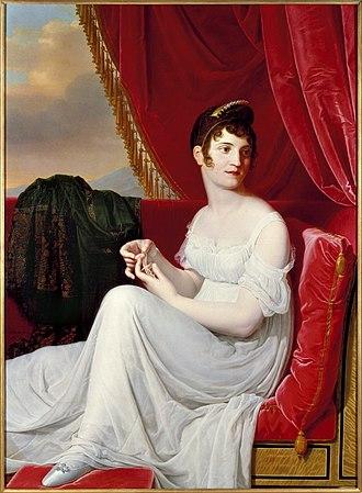 Empire silhouette - Portrait of Thérésa Tallien by Jean-Bernard Duvivier (1806) with Empire waist Brooklyn Museum