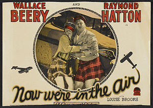 Now We're in the Air - Theatrical poster with Beery at right