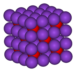 Inorganic chemistry - The structure of the ionic framework in potassium oxide, K2O