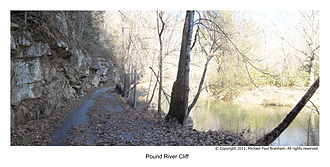 Pound River - A section of Pound River in Dickenson County VA. Above Pound River Campground