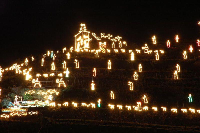Presepe luminoso Manarola