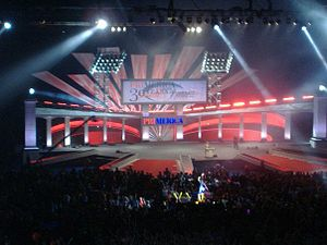 English: A view of the Stage at the Primerica ...