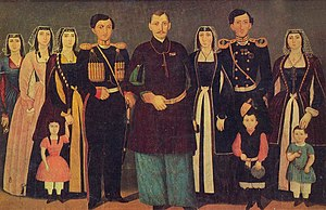 House of Mukhrani - Prince Nicholas Bagration of Mukhrani with his family.