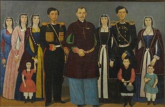 House of Mukhrani - Prince Nicholas Bagration of Mukhrani with his family.