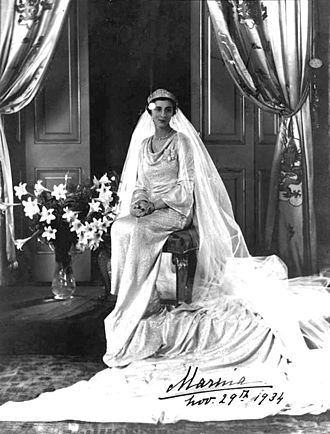 Princess Marina of Greece and Denmark - Princess Marina on her wedding day