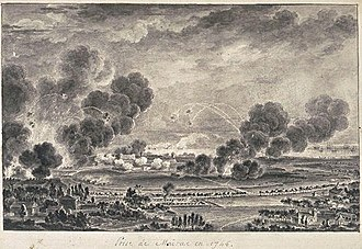 Battle of Madras - The siege of Madras in 1746 for Joseph Francois Dupleix troops and ships of La Bourdonnais. The city surrendered in September 1746. Madras was returned to England in 1748 to restore peace.