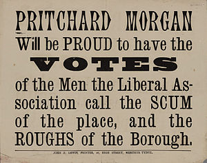 William Pritchard Morgan - One of Morgan's election posters