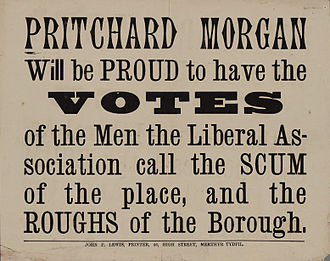 History of propaganda - Blatant election propaganda from the UK c.1890