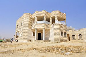 Tirabin al-Sana - A private house being built in Tirabin al-Sana (July 2012)