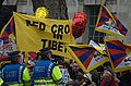 Pro-Tibet protesters at Olympic torch relay in London 2008.jpg
