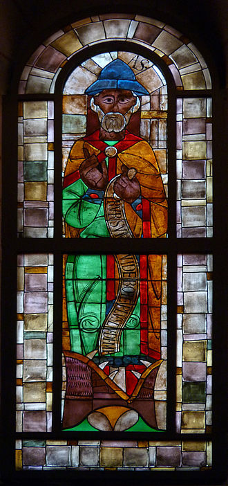 Augsburg Cathedral - Stained glass window of Prophet Jonah.
